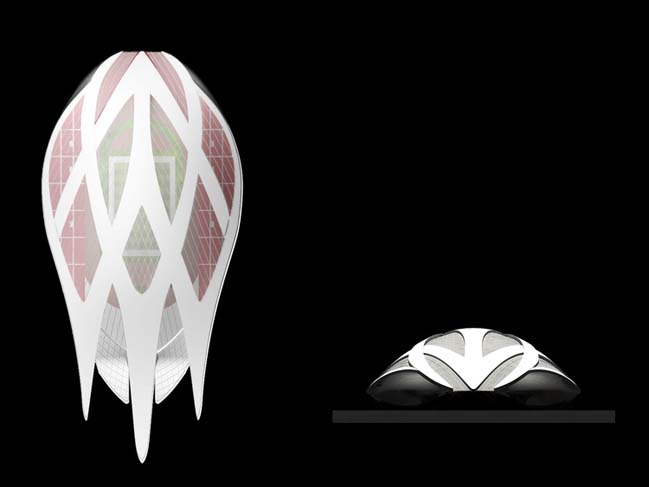 Beautiful architectural concept of The Stadium in Singapore