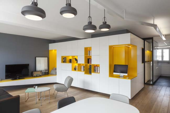 Cosy apartment decorating by Agence Glenn Medioni