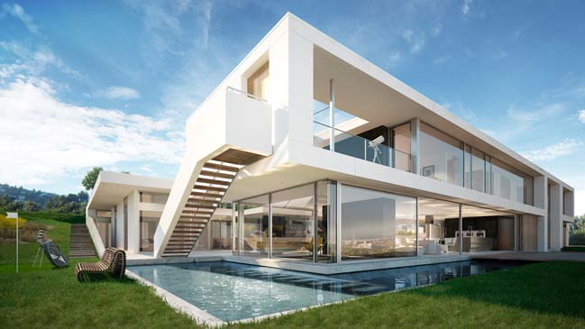 Architectural Rendering Of Luxury House In Los Angeles