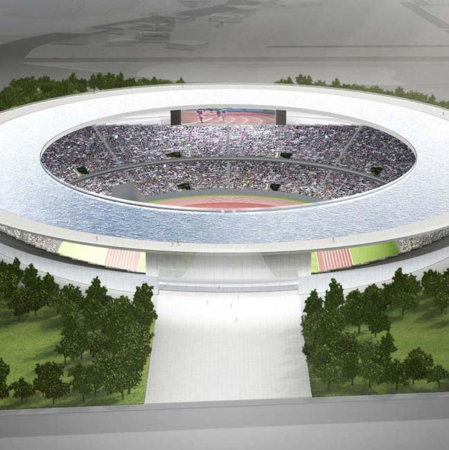 The Olympic Stadium envisioned by Tokujin Yoshioka