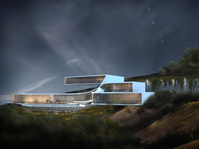 Futuristic House Concept By M Rad Architecture 915 on Modern House With Curved Roof Design