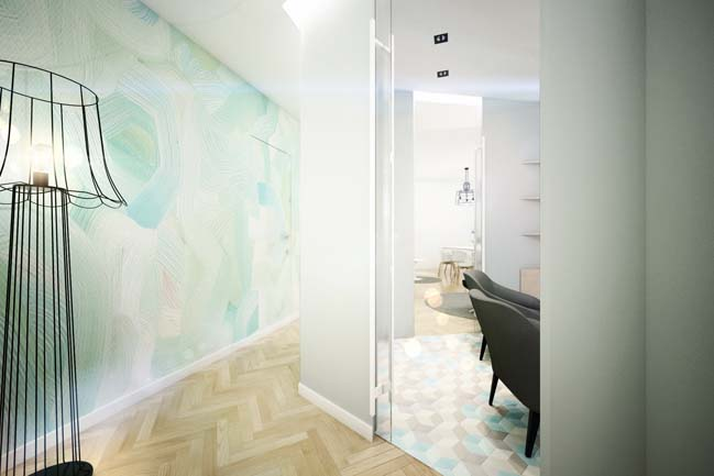 Modern apartment with pastel colors
