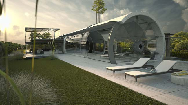 Concrete Tube House By Rb P