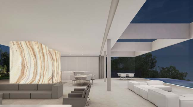 White luxury villa by Ramón Esteve Estudio