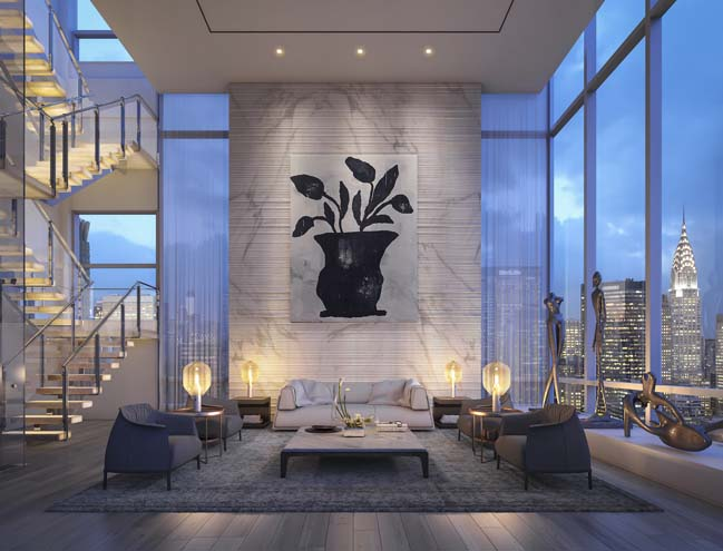 Luxury penthouse in new york by oda architecture for Most expensive penthouse in nyc