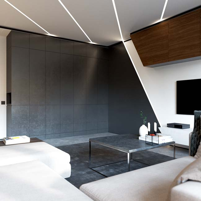 Luxury apartment 50 sqm by Shmidt Studio