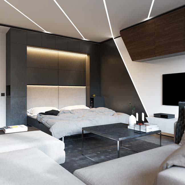 Luxury apartment 50 sqm by Shmidt Studio