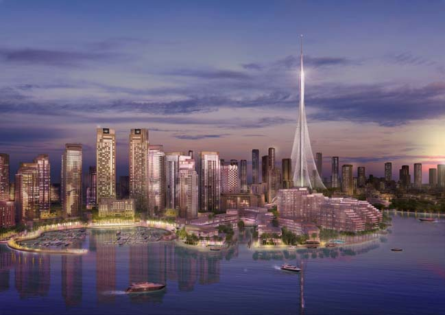 The new iconic tower in Dubai by Santiago Calatrava