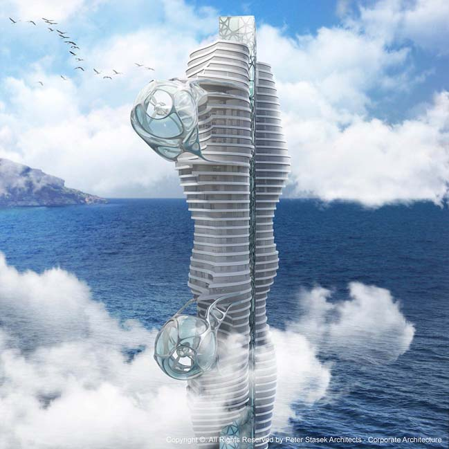 Wind Tower by Peter Stasek Architects