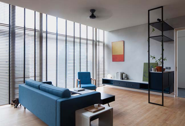 Apartment Renovation With Two Color Scheme