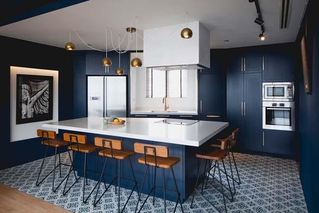 Apartment Building Color Schemes renovation with two-color scheme