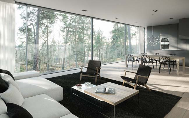 Forest house concept by Imola