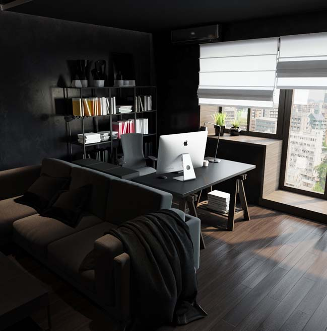 Black small apartment that will attract you attention