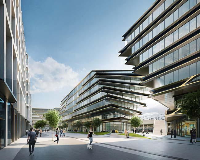 Zaha Hadid Architects regenerate a new CBD in Prague