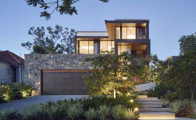 Contemporary river-front house by SLa