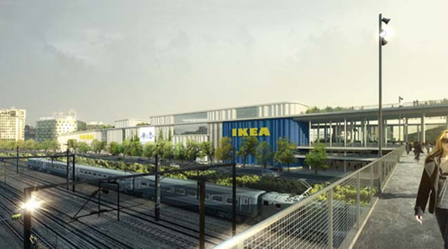 The new IKEA building by Dorte Mandrup Arkitekter