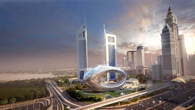Amazing futuristic architecture of Museum of the Future in Dubai