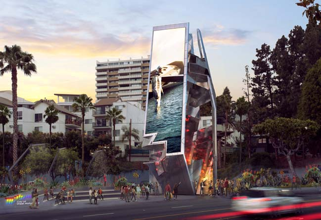 West Hollywood Belltower by Tom Wiscombe Architecture