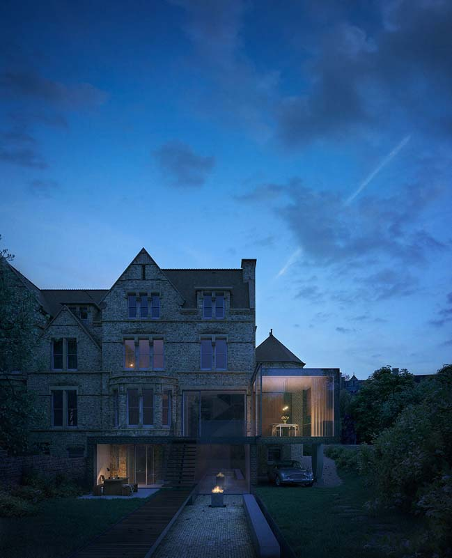 Old townhouse refurbishment in Oxford by Hyde + Hyde Architects