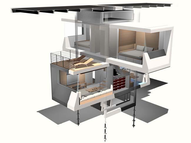 Prefab house concept by Specht Architecture