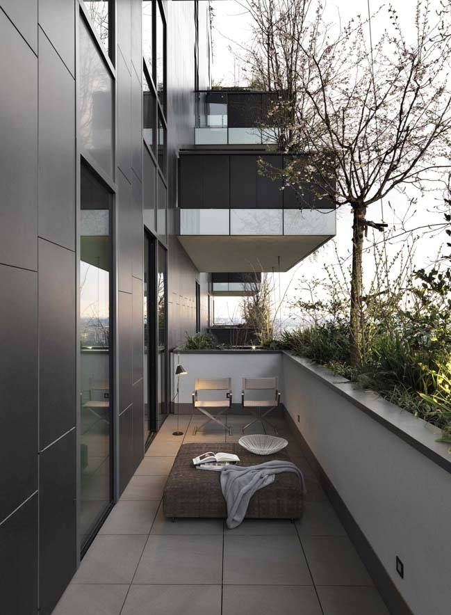 Penthouse at Bosco Verticale in Milan by Matteo Nunziati
