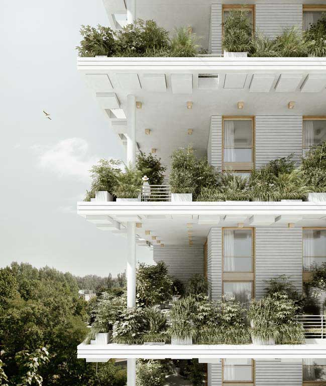Green Sky Villas in India by Penda