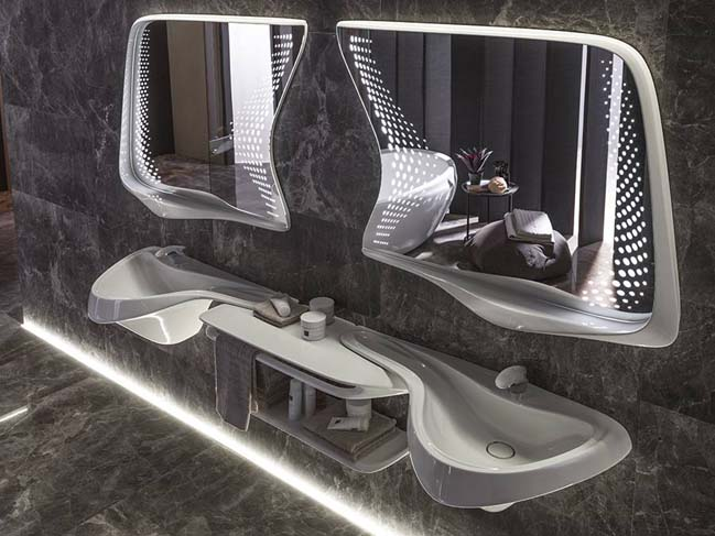 Vitae bathroom collection by Zaha Hadid Design