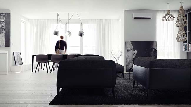 Modern minimalist penthouse by MUS Architects