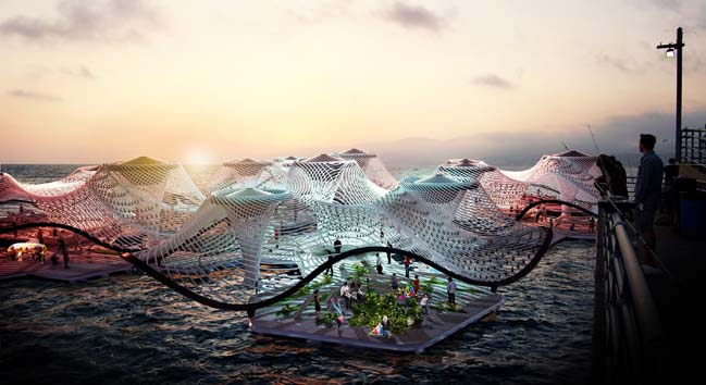 FORAM - An amphibious pavilion purifying the Pacific's saltwater