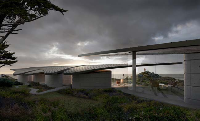 Sail-like roofed pavilions by Form4 Architecture