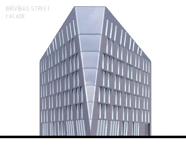 Multifunctional office building concept by NRJA