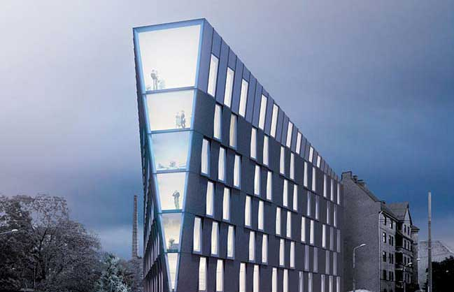 Multifunctional office building concept by nrja for Concept building