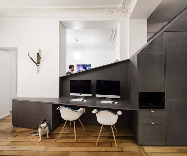Small apartment in Paris by Studio Razavi Architecture