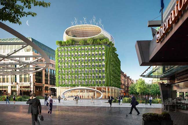 The Botanic Center Bloom in Brussels by Vincent Callebaut