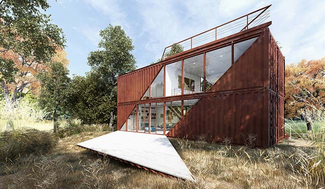Shipping container house concept by lot ek architecture for House concept design