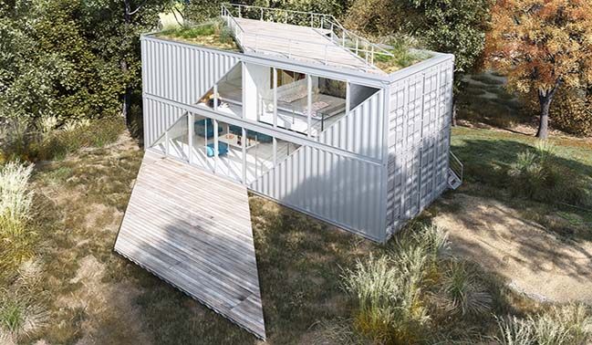 Shipping container house concept by LOT-EK Architecture