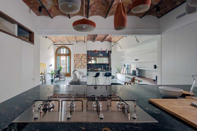 Luxury apartment in Barcelona by Nook Architects
