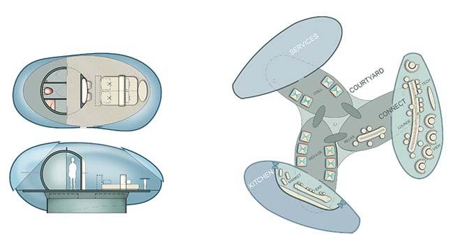 Futuristic architecture: Drone Hotel Concept by HOK