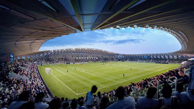 Forest Green Rovers Stadium by Zaha Hadid Architects