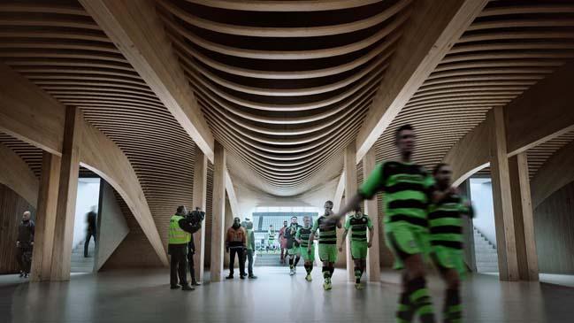 Forest Green Rovers Stadium by Zaha Hadid Architects