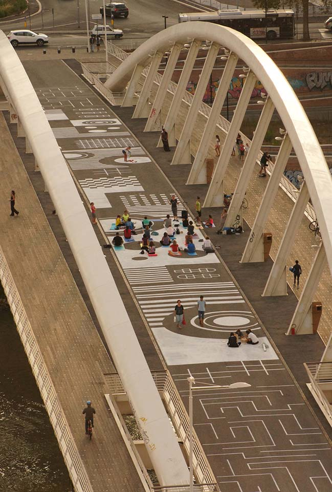 Temporary public art in Rome by piano b architetti associati