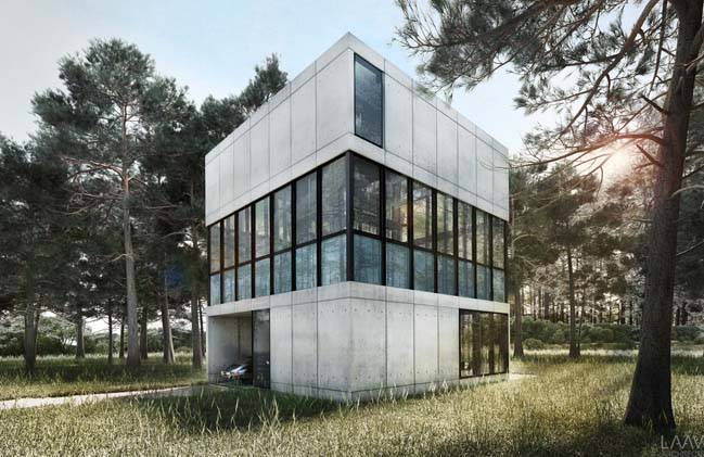 Concrete house concept by LAAV Architects