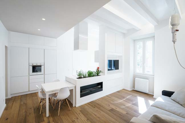 White small apartment by Brain Factory
