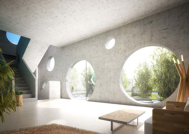 Y-shaped futuristic house concept by MVRDV