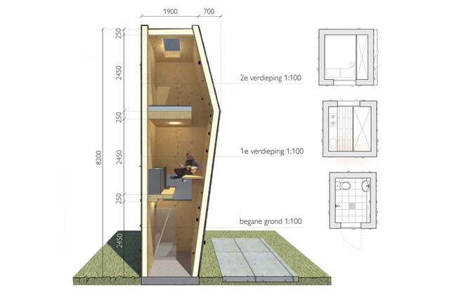 Tiny house concept by jeanne dekkers architectuur for Small house design competition