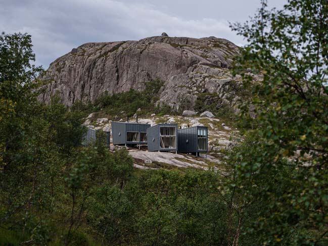 Modern weather-proof lodges in Norway by KOKO