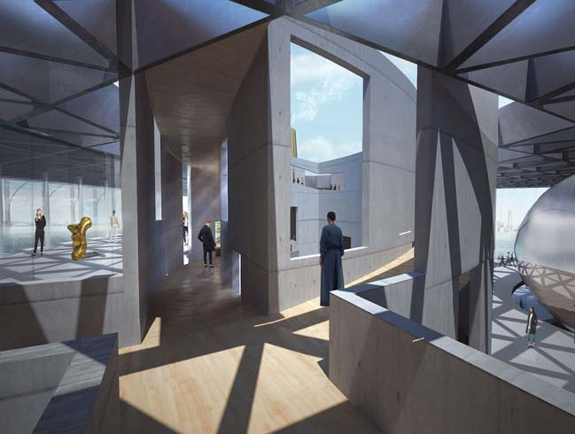 New triangle-structure proposal for New York's Liberty Museum by zU-studio