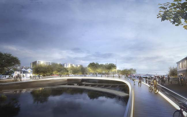 New river crossings in Ipswich by Foster + Partners