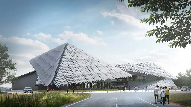 Yangcheng Lake Tourist Transportation Center by Kengo Kuma