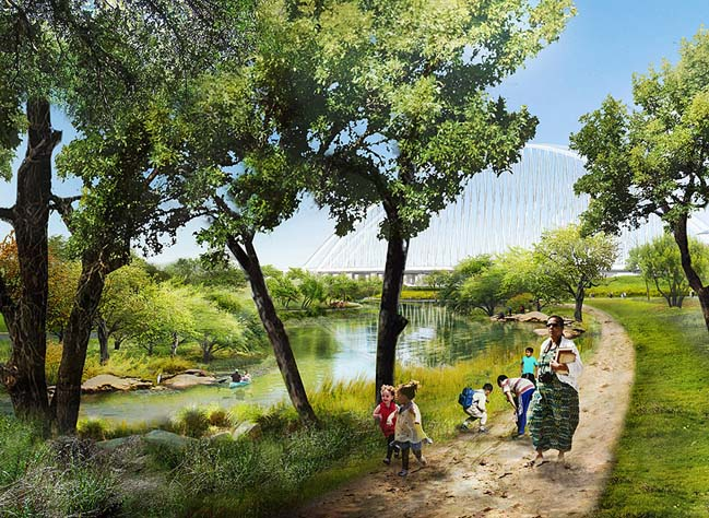 Trinity River Park by Michael Van Valkenburgh